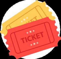 Tickets - <p>você se diverte e ainda troca seus Tickets por brindes super especiais.</p>